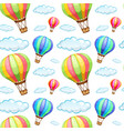 seamless pattern tile cartoon with hot air vector image