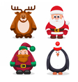 Set Christmas Characters vector image