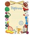 sports diploma vector image