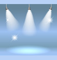 spotlights on stage vector image vector image
