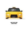 Taxi cab isolated on white vector image vector image