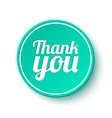 Thank you round label sticker badge vector image vector image