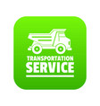 transportation company icon green vector image