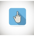 Flat finger up icon vector image