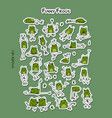 funny frogs sticker set for your design vector image