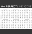 180 modern thin line icons set of cyber security vector image vector image