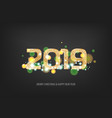 2019 new year golden banner vector image vector image
