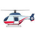 a cartoon helicopter on white background vector image