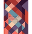 Abstract Background retro mosaic vector image vector image