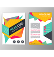 Abstract Brochure Template Business Geometric vector image vector image