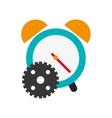alarm clock and gear icon vector image