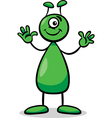 alien or martian cartoon vector image vector image