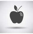 Apple icon on gray background vector image
