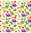 badinosaurs pattern vector image vector image