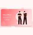 banner police officers team concept vector image