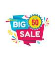 big sale - creative banner vector image vector image