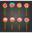 Big set of Christmas candy vector image vector image