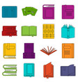 books icons doodle set vector image