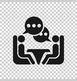 business consulting icon in transparent style two vector image