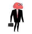Businessman brain genius Very clever manager Brain vector image vector image