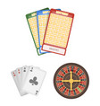 casino and gambling cartoon icons in set vector image vector image