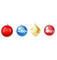 christmas multicolor toys isolated on white vector image
