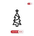 christmas tree icon winterxmas symbol flat sign vector image vector image