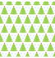 christmas tree seamless pattern christmas vector image vector image