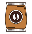coffee bag product icon vector image vector image