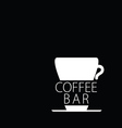 coffee bar black and white vector image vector image