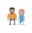 couple man and woman family character vector image