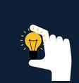 creative idea concept flat design hand holding vector image vector image