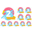 day left badges numbers shopping sales time vector image vector image