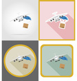 delivery flat icons 13 vector image vector image