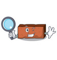 detective brick character cartoon style vector image vector image