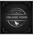 Eco chalk lettering label of organic natural fresh vector image vector image