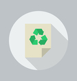 Eco Flat Icon Recycle document vector image vector image