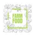 farm food banner template with hand drawn vector image