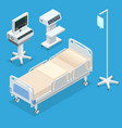 flat 3d isometric interior vector image vector image