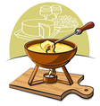 fondue vector image
