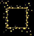 frame golden confetti vector image vector image