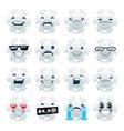 Funny Snowflake Emojis vector image vector image