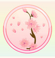 game icon with sakura flower vector image vector image