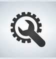 gear and wrench icon settings repair service vector image