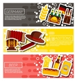 germany panorama scenery banners concept vector image