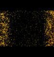 gold glitter confetti for certificate voucher vector image