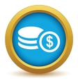 Gold money icon vector image vector image