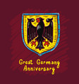 great germany anniversary concept background hand vector image