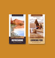 instagram template with landscape in autumn vector image vector image