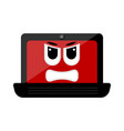 isolated angry laptop emote vector image vector image